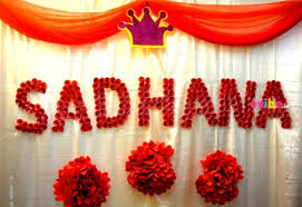 Decoration Ideas For Naming Ceremony Naming Ceremony Special Craft Decor Birthday Drapes Decorations