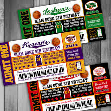 nba themed party invitation ideas decorating of party