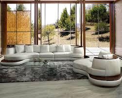 Corner Leather Sofa Sets Rounded Corner Leather Sectional Sofa Set 44l105