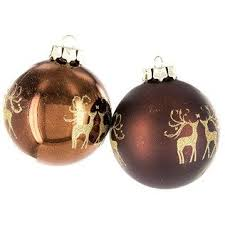Hobby Lobby Christmas Deer Decor by Brown Ball Ornaments With Golden Glitter Deer Shop Hobby Lobby
