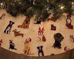 dachshund tree skirt etsy