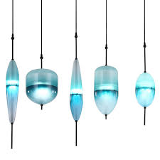 Blue Glass Pendant Light Modern Led Deco Huse Gradient Glass Pendant Ls Venice