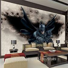 Batman Room Decor 3d Amazing Batman Wall Mural Custom Large Photo Wallpaper
