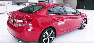 subaru pink 2017 subaru impreza hatch sedan and chassis get detailed
