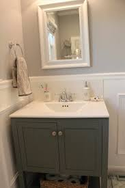 Vanity Tub Out Bathroom Vanity Wainscoting And A Drop In Tub With Wainscot