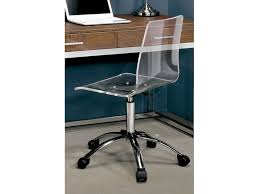 Furniture of America Living Room Acrylic Office Chair CMFC6403A