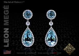 detachable earrings e5916 mege detachable aquamarine diamond earrings platinum