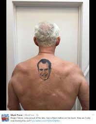 does roger stone have a tattoo of richard nixon on his back