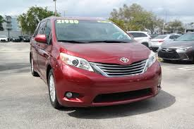 lexus of north miami body shop pre owned 2011 toyota sienna xle mini van passenger in miami