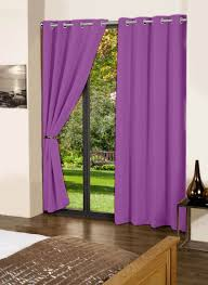 Buy Lushomes Royal Lilac Plain Cotton Curtains With 8 Eyelets For