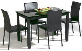 glass top modern dining table w optional chairs
