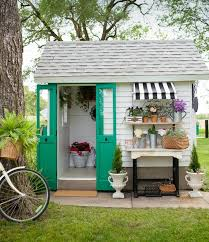 stencils add cottage charm to an old garden shed stencil stories