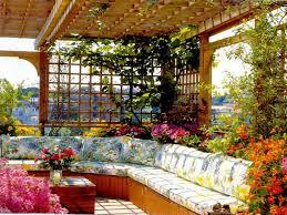 Mediterranean Style Home Interiors Rooftop Flower Garden Design Ideas Mediterranean Style And Simple