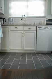 Laminate Tile Flooring Kitchen by Kitchen Flooring Walnut Hardwood Brown Gray Tile Floor Medium Wood