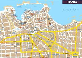 city map hania city map hania greece mappery