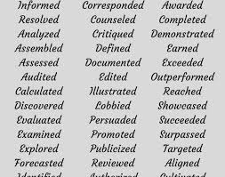 Powerful Action Verbs For A by Active Resumes Cerescoffee Co