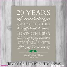 20 year anniversary gifts for fresh 20th wedding anniversary gifts for foxy wedding gifts