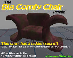 second life marketplace the big comfy chair prank