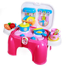 Plastic Toy Kitchen Set Amazon Com Sgile Kitchen Playset Toy Kids Pretend Cooking Food