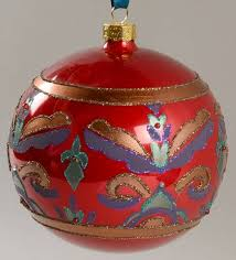 waterford holiday heirloom ornaments persian ball with box bx373