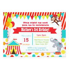 carnival birthday invitations u0026 announcements zazzle