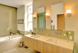 a bathroom with yellow vintage tile nice home design