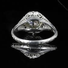antiques atlas antique art deco diamond engagement ring