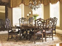 lexington dining room set lexington florentino magnificent carved pedestal dining table with