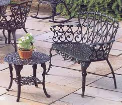 Aluminum Outdoor Patio Furniture Garden Bench Cast Aluminum Patio Furniture Loveseat 5