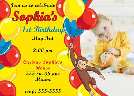 26 curious george invitations images birthday