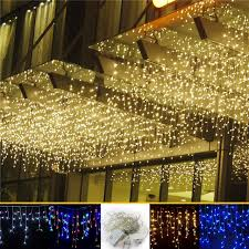 4M 96 Led curtain icicle string lights patio christmas Led