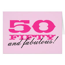50th birthday card for 50 and fabulous zazzle