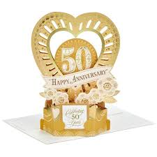 anniversary cards celebrate the years pop up 50th anniversary card greeting cards