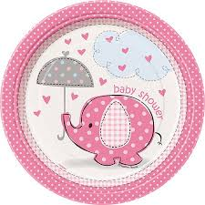 baby shower supplies online 7 pink elephant baby shower plates 8ct walmart