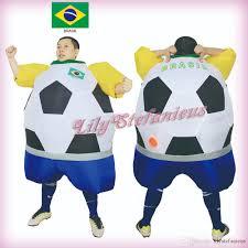 Inflatable Costume Halloween by Chub Brazil Football Team Inflatable Jumpsuit Cheerleader