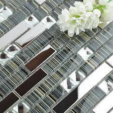 Wholesale Metallic Backsplash  Stainless Steel Sheet Metal And - Glass and metal tile backsplash