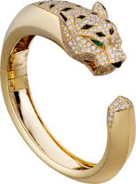 cartier bracelet images Crn6035317 panth re de cartier bracelet yellow gold diamonds png