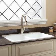 Blyth DoubleBowl Cast Iron Dropin Kitchen Sink Kitchen - Kitchen sink cast iron