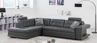 canape en cuir gris canapé taupe prix discount