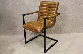 Leather Armchairs Vintage Tan Leather Armchair With Steel Frame A Wonderful Leather Chair With