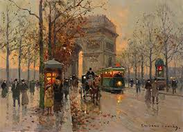 for sale by artist edouard cortes arc de triomphe circa 1950 for
