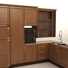 complete kitchen cabinets appliances 3d model cgstudio