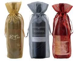 mesh gift bags sheer wine gift bags