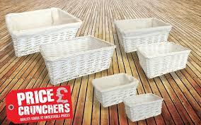 white wicker storage basket gift hamper set home decor lining white wicker storage basket gift hamper set home decor lining small medium large