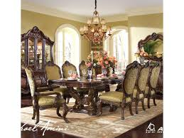 Dining Room Set Michael Amini Chateau Beauvais 9 Piece Ornate Formal Dining Room