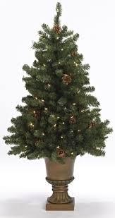 Pre Lit Mini Christmas Tree - pre lit miniature christmas tree in urn
