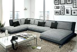 canapé d angle gris et blanc pas cher canape d angle gris convertible grand salon design pas cher dangle