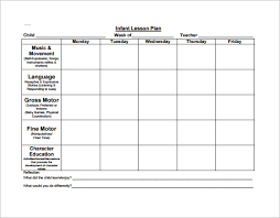 Kindergarten Floor Plan Examples Sample Teacher Lesson Plan Template Toddler Curriculum Lesson