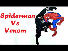 spiderman venom coloring pages learn colors kids