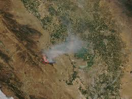 Vacaville Wildfire Map by Blanket Of Smoke From Northern California Fires Nasa